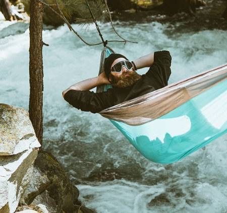 Hammock camping on the river