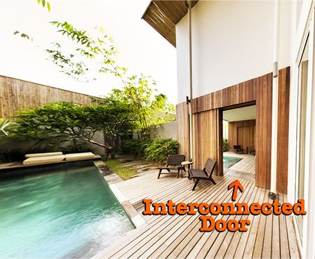 Interconnected large family villas Bali