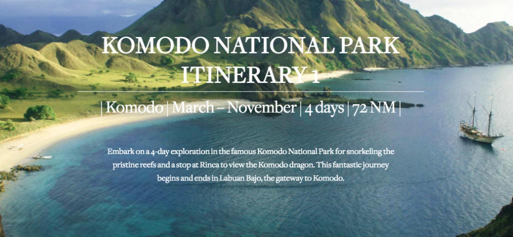 Komodo national park itinerary