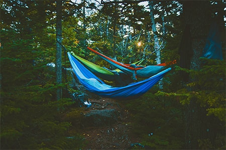 Double hammock for camping with partner