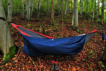 Camping using the lightweight backpacking hammock at the forest can relieve your stress